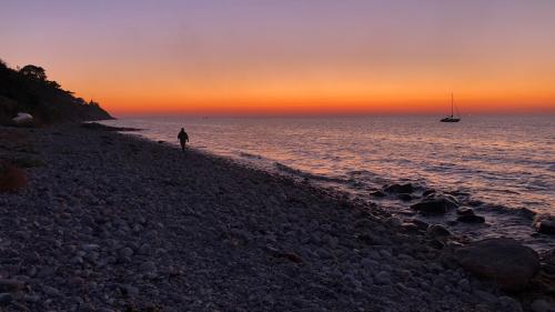 Solnedgang på Røsnæs 2020